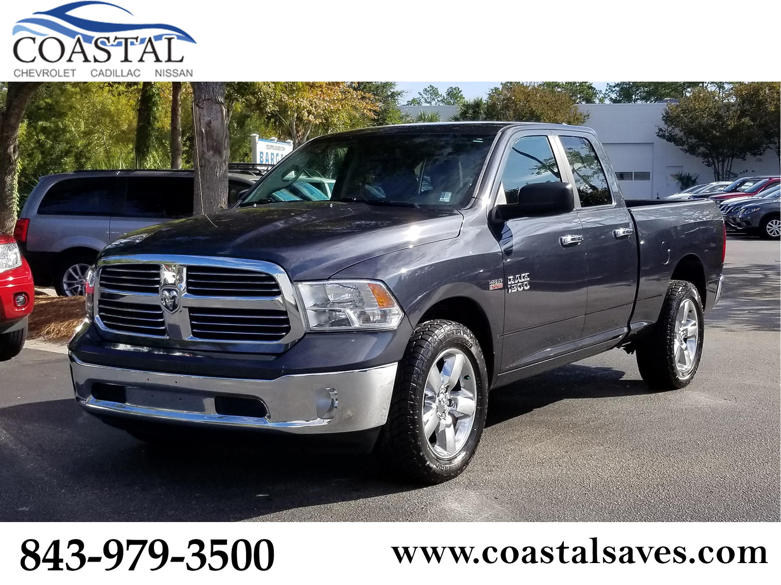 Pre-Owned 2016 Ram 1500 2WD Quad Cab 140.5 Big Horn