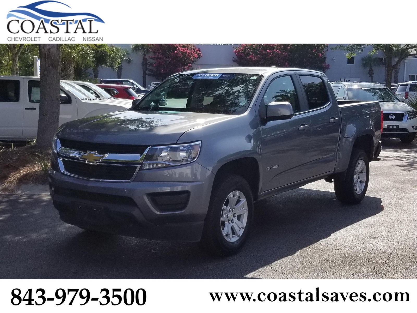 Certified Pre-Owned 2019 Chevrolet Colorado 4WD Crew Cab 128.3 LT